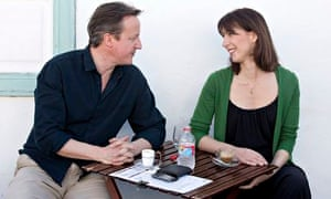 David Cameron with Samantha on holiday in Lanzarote