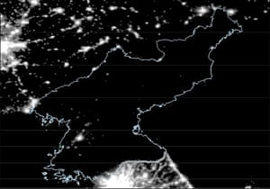 North Korea by night - the single composite image of the country for 2012.