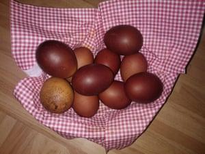 Georgian orthodox Easter eggs
