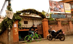 Base Camp cycle cafe in Kathmandu