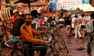 Local resident on bike in Kathmandu