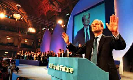 William Hague addressing conference in 1997