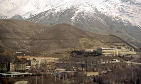Evin prison in Tehran, where dozens of inmates have reportedly been beaten by guards