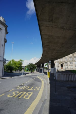 Churchill Way flyover in Dale Street, Liverpool