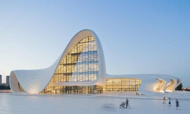 Zaha Hadid's Heydar Aliyev Centre in Baku, Azerbaijan.