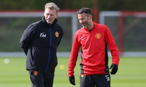 David Moyes and Ryan Giggs share a laugh while discussing Wittgenstein before a game of backgammon.