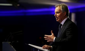 Tony Blair delivering his Bloomberg speech