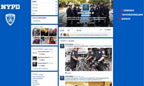 NYPD Twitter page
