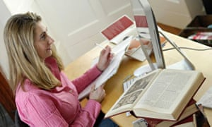 The number of people working from home reached 4.2m in January-March 2014