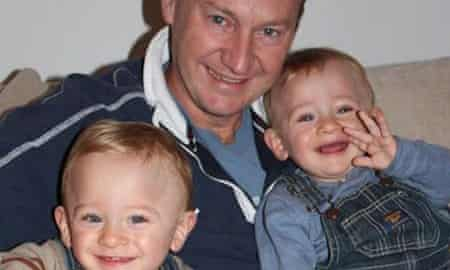 Gary Clarence and his twin children