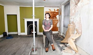 Artist Saskia Olde Wolbers at the Brixton house where Vincent Van Gogh once lodged