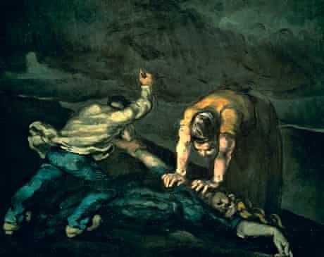Murder (1869-70) by Paul Cézanne