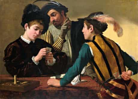 The Cardsharps (c 1595) by Caravaggio