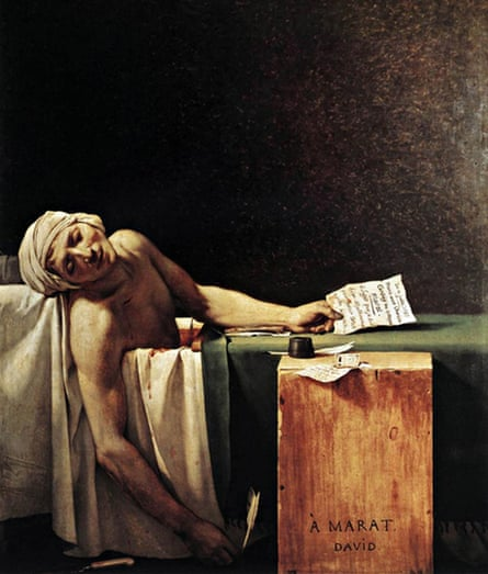 The Death of Marat (1754) by Jacques-Louis David