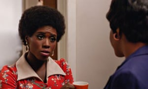 Suffering racist secretary-draughts … Shirley (Sola Bamis) and Dawn (Teyonah Parris).