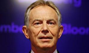 Tony Blair speaking at Bloomberg