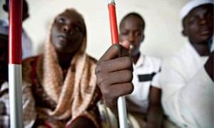blind Sudanese
