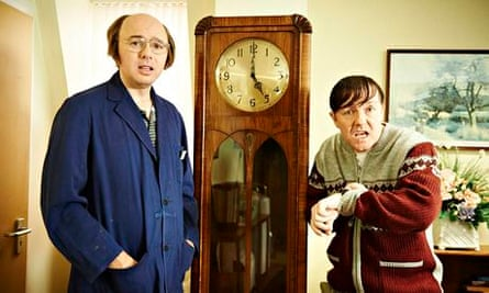 Time's running out for Dougie (Karl Pilkington) and Derek (Ricky Gervais).