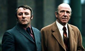Sport/Football, 1973, Tommy Docherty, Manchester United Manager with the former Manager Matt Busby