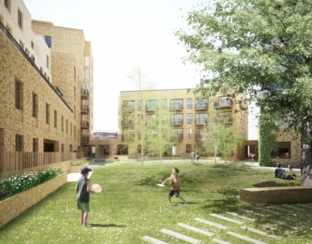 View of Haworth Tompkins' proposals for Silchester in Kensington and Chelsea.