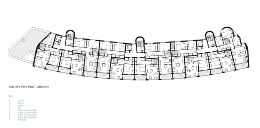 Plan of second and third floor