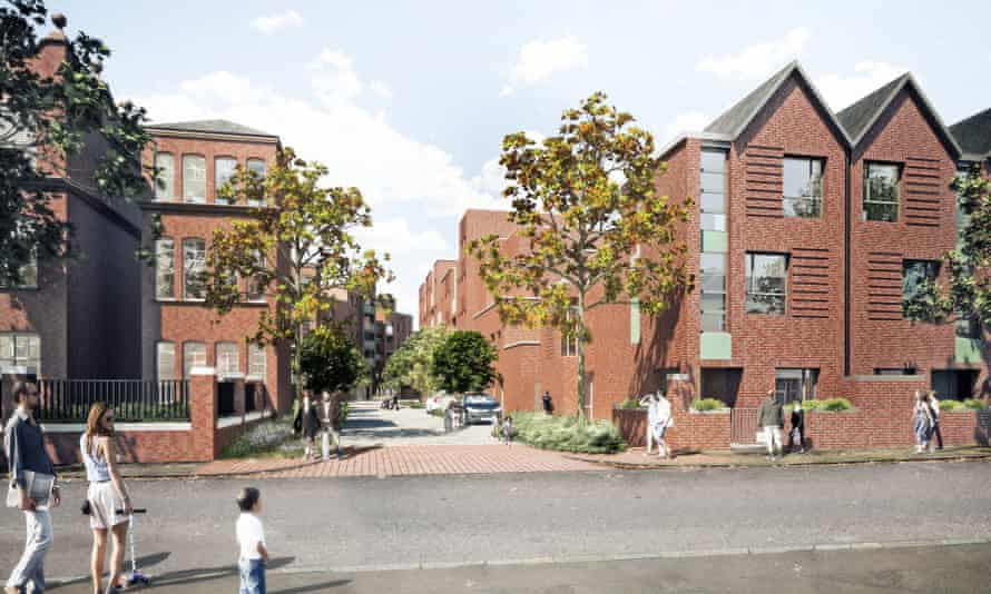 Plaistow Hospital … 170 new homes designed by PCKO, as the result of Peabody's 150th anniversary competition