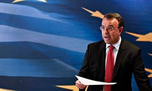 Greece's deputy finance minister Christos Staikouras