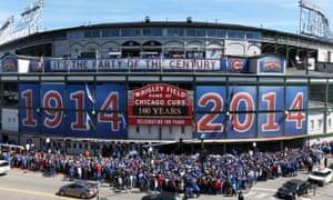 芝加哥历史悠久的瑞格利球场周三上涨100。