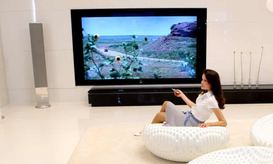 Flatscreen TV.
