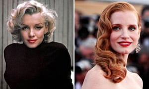 Marilyn Monroe and Jessica Chastain