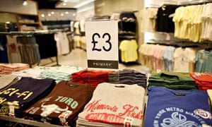 Piles of cheap T-shirts in Primark's flagship Oxford Street store
