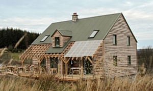 Insulation Kim Siu's Morayshire home is built with straw bale insulated panels