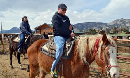 Draft horse riding