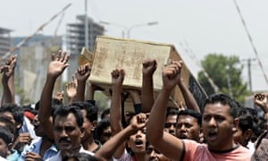 Bangladeshi garment workers and activist