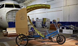 the rickshaw with A320 wing section inKevin's Supersized Sal