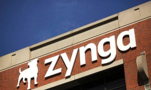 The Zynga logo is pictured at the company's headquarters in San Francisco, California April 23, 2014.