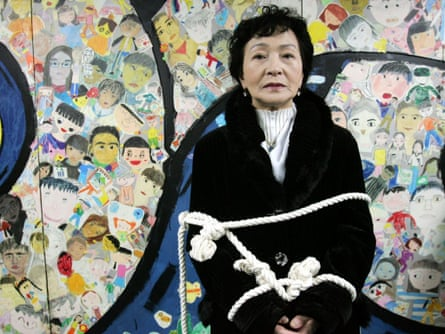 Kim Boon-Nye, 73, who defected from North Korea to South Korea in 2001, participates in a protest over North Korean human rights in Seoul.