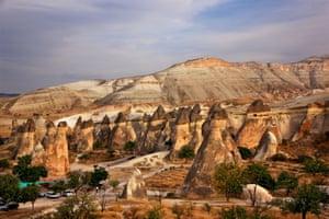 Underground city at Derinkuyu in Turkey
