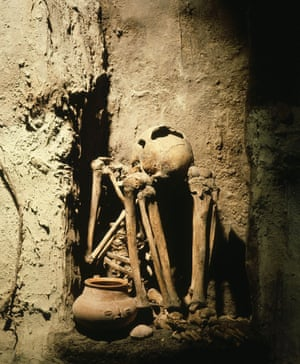 """Ruled by Mayan death gods, Xibalba or """"place of fear,"""" consisted of a network of caves, stone rooms and other spooky subterranean structures laid out across central America. Mayans believed entrances to Xibalba were through caves today found in Guatemala, Mexico and Belize. Also, it probably never existed."""