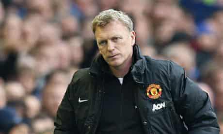 David Moyes  Everton v Manchester United - Barclays Premier League