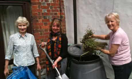 Transition Streets: Members of the Fishpool Street group learning how to make compost