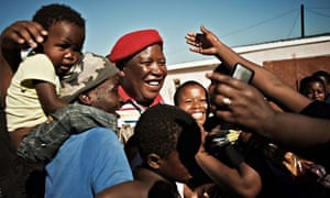 Julius Malema of the South African political party Economic Freedom Fighters