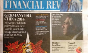 The error-ridden front page of the Australian Financial Review