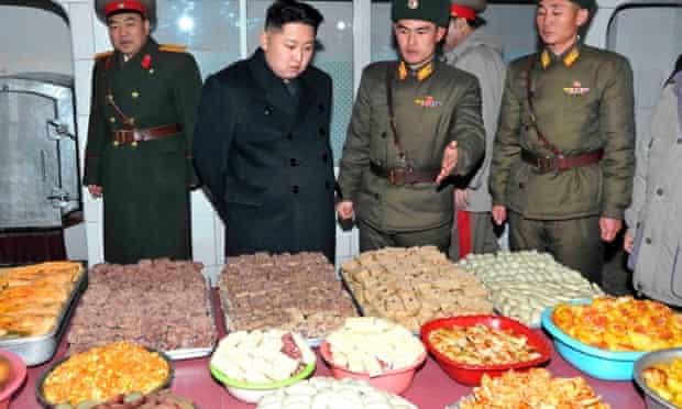 Kim Jong-un visits a Korean People's Army base in Pyongyang