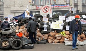 Pro-Russian Protesters Occupying Building