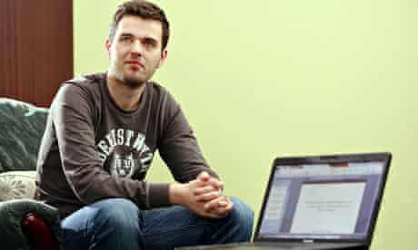 Aberystwyth University student Jamie Evans