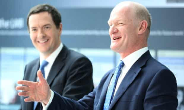 David Willets and George Osborne during a visit to Cambridge today, as they announce a new £200 million polar research ship as part of efforts to turn scientific expertise into economic success.