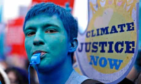 Climate change protests in London