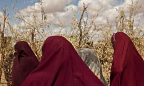 Somali women in Islamic dress