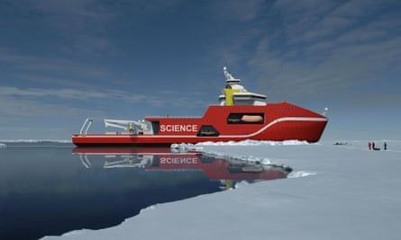 Artists impression issued by the Natural Environment Research Council (NERC) of a proposed design of the next generation polar research vessel as the Government will fund a new  200 million polar research ship as part of its efforts to turn scientific expertise into economic success. PRESS ASSOCIATION Photo.